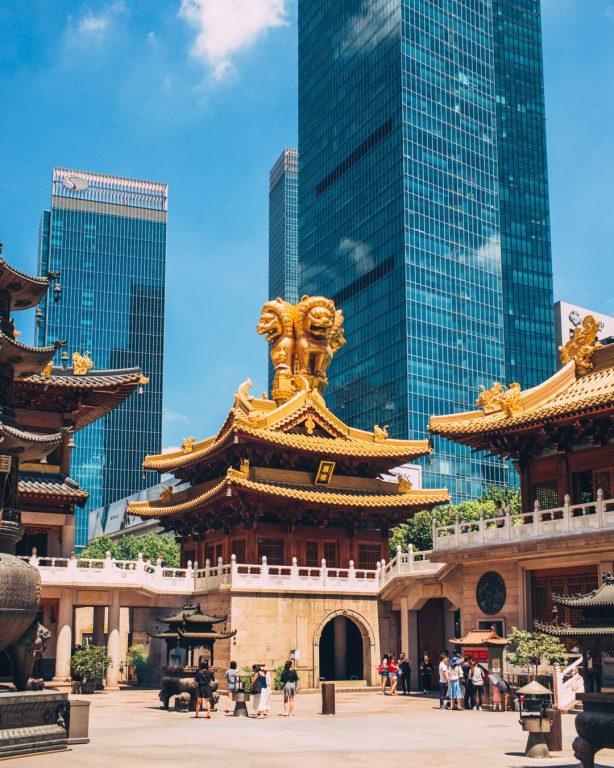 Jing'an temple shanghai buildings