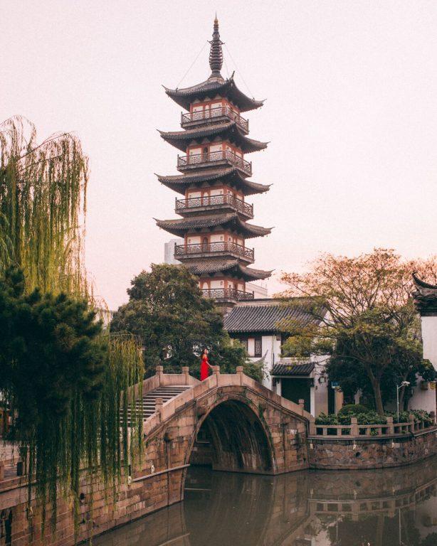 jiading pagoda sunset